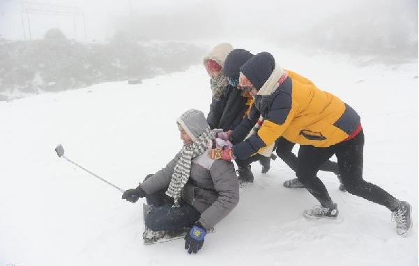 Ngắm tuyết ở Mẫu Sơn Lạng sơn vào mùa đông