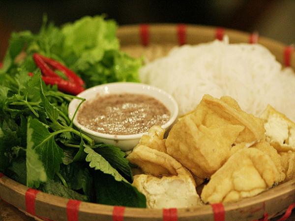 Bún đậu mắm tôm Hà Nội món ăn dân dã, thu hút