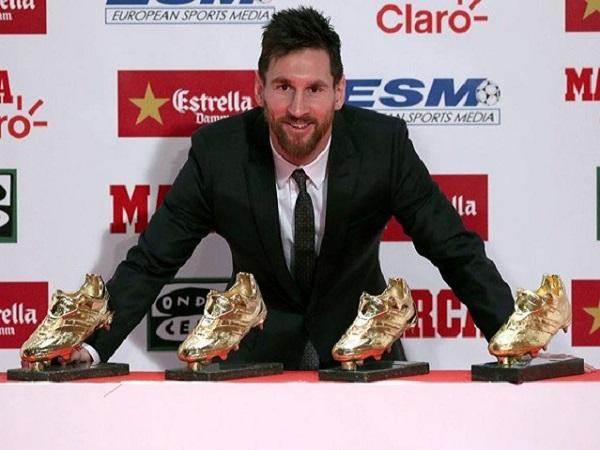 Giành chiếc giày vàng, Messi lập kỷ lục vô tiền khoáng hậu