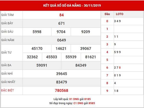 Dự đoán kết quả XS Đà Nẵng thứ 4 ngày 04-12-2019
