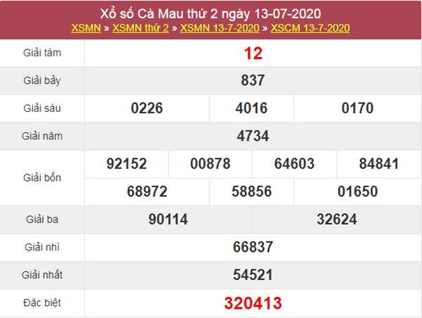 Dự đoán XSCM 20/7/2020 nhanh tay chốt lô giải tám Cà Mau