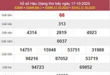 Dự đoán XSHG 24/10/2020 chốt lô VIP Hậu Giang thứ 7